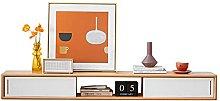 Floating Shelf, Wall-Mounted Media Console,