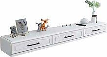 Floating Shelf Wall-Mounted TV Cabinet, Shelf for