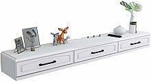 Floating Shelf Wall-Mounted TV Cabinet, Wall
