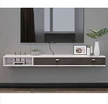 Floating Shelf Wooden Floating TV Stand Wall Media