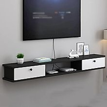 Floating TV Cabinet, Wall-Mounted Media Console,