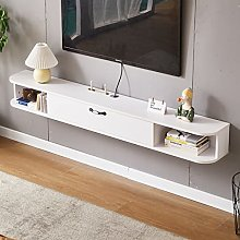 Floating TV Stand Shelf, Wall-mounted Media
