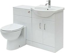 Floe 1050mm Cabinet Cloakroom Suite (Essentials