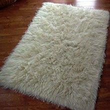 Flokati Shaggy Wool Rug, Ivory, Natural Colour