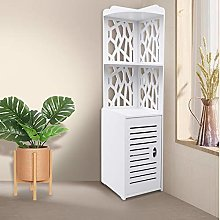 Floor Cabinet,Hollow Out Slim Bathroom Cabinets