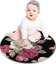 Floor Carpet Black White Pink Flower Outdoor Area
