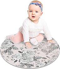 Floor Carpet Gray White Flower Outdoor Area Rug