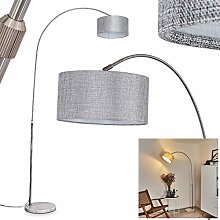Floor lamp Belesende with Marble Base and Grey