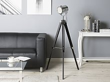 Floor Lamp Black Metal 143 cm Spotlight