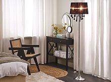 Floor Lamp Black Polycotton 170 cm Drum Shade