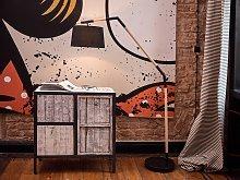 Floor Lamp Black Polycotton 173H cm Cantilever Oak