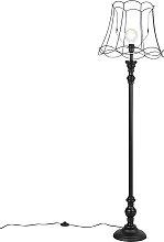 Floor Lamp Black with 45cm Black Granny Frame