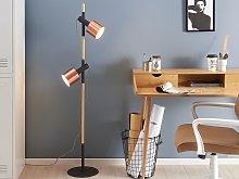Floor Lamp Black with Copper Metal 148 cm