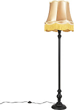 Floor Lamp Black with Gold Granny Shade - Classico