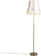 Floor Lamp Bronze with 45cm Cream Granny Shade -