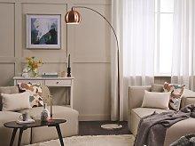 Floor Lamp Copper Colour Metal 210 cm Adjustable