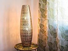 Floor Lamp Silver Metal Column 85 cm Metalwork
