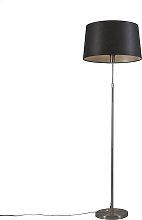 Floor Lamp Steel with 45cm Black Shade - Parte