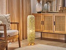Floor Lamp White Metal Cylindrical Shape 60 cm