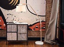 Floor Lamp White Polycotton 173H cm Cantilever Oak