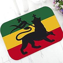 Floor Mat 3D Printing Cool Reggae Lion Door Mat