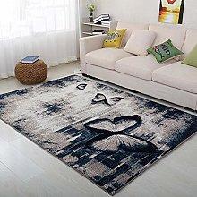 Floor Mat Printing Grey Butterfly Pattern,Bedroom
