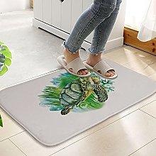 Floor Mat Printing Sea Turtle Mats Sets Bathroom