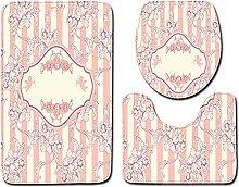 Floor Rugs 3pcs / set Bathroom Mat Classic Pattern