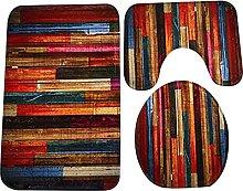 Floor Rugs Fashion Bath Mat Set 3 Piece Bathroom