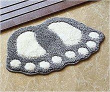 Floor Rugs Foot Printing Bath Mats, Non-Slip