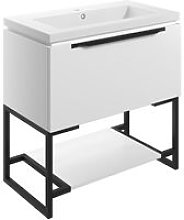 Floor Standing 1-Drawer Vanity Unit with Basin and