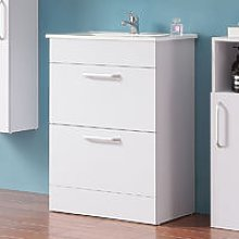 Floor Standing 600mm Bathroom Vanity Unit with
