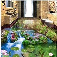 Floor Wallpaper 3D for bathrooms PVC Waterproof