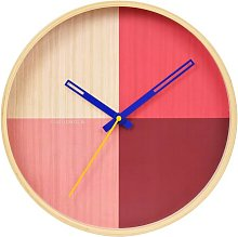 Flor Red 30cm Wall Clock Cloudnola Colour: Red
