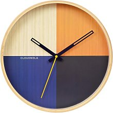 Flor Red 30cm Wall Clock Cloudnola