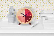 Flor Tabletop Clock Cloudnola Finish: Red