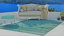 Flora Carpets Berlin Rug, Acrylic, Turquoise, 150