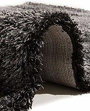 Flora Carpets Coffee Shaggy Luxury/Malibu Rug,