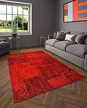 Flora Carpets Living Room Rug, Acrylic, red,