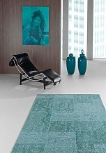 Flora Carpets Living Room Rug, Acrylic, Turquoise,