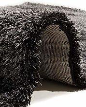 Flora Carpets Living Room Rug, Polyester, Black,