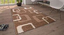 Flora Carpets Torino Shaggy Runner, Synthetic,