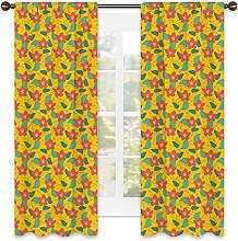 Floral 99% blackout curtain, Flowering Meadow