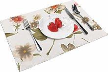 Floral Art Flower Paintings Flower Table mat 4