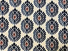 Floral Aztec Spanish Geometric Diamond Flower Tile