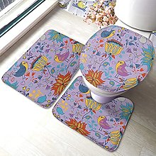 Floral Bathmat,Abstract Floral Flower Berry And