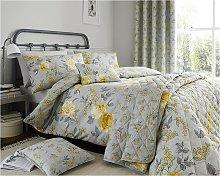 Floral Duvet Colette Yellow Double Duvet Cover -