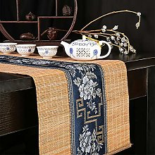 Floral Embroidery Bamboo Table Runner, Original