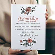 Floral Friendship Poem Wall Art Print | Gift for a