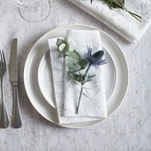 Floral Napkins - Set of 4, White, One Size